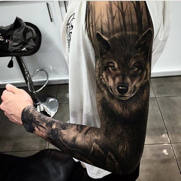 Wolf Woods Tatto Wolf Tattoo Sleeve Forest Tattoos Wolf Tattoos