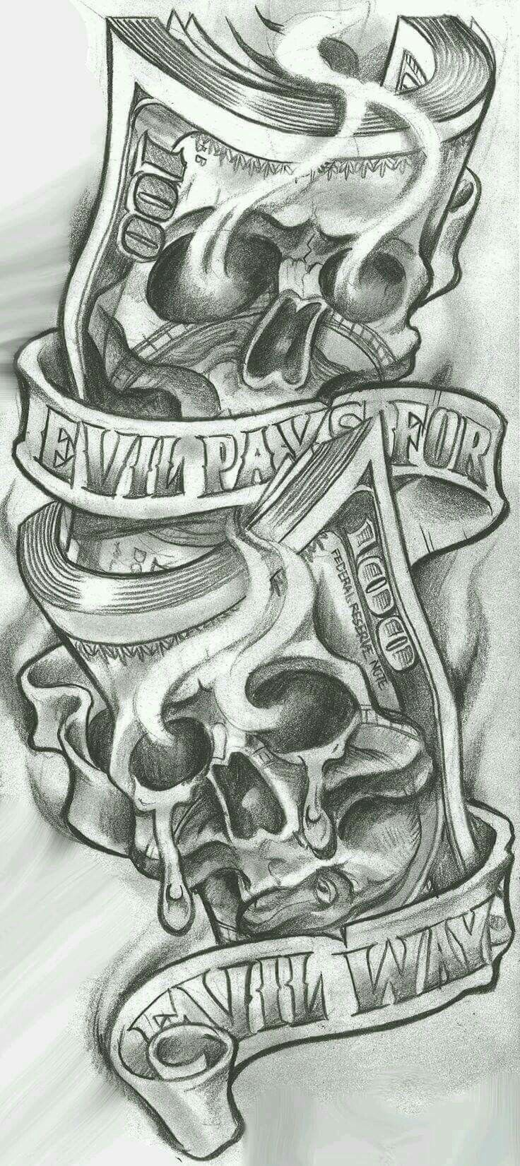 Arte Chicano Dibujos Evil Pays For Evil Ways