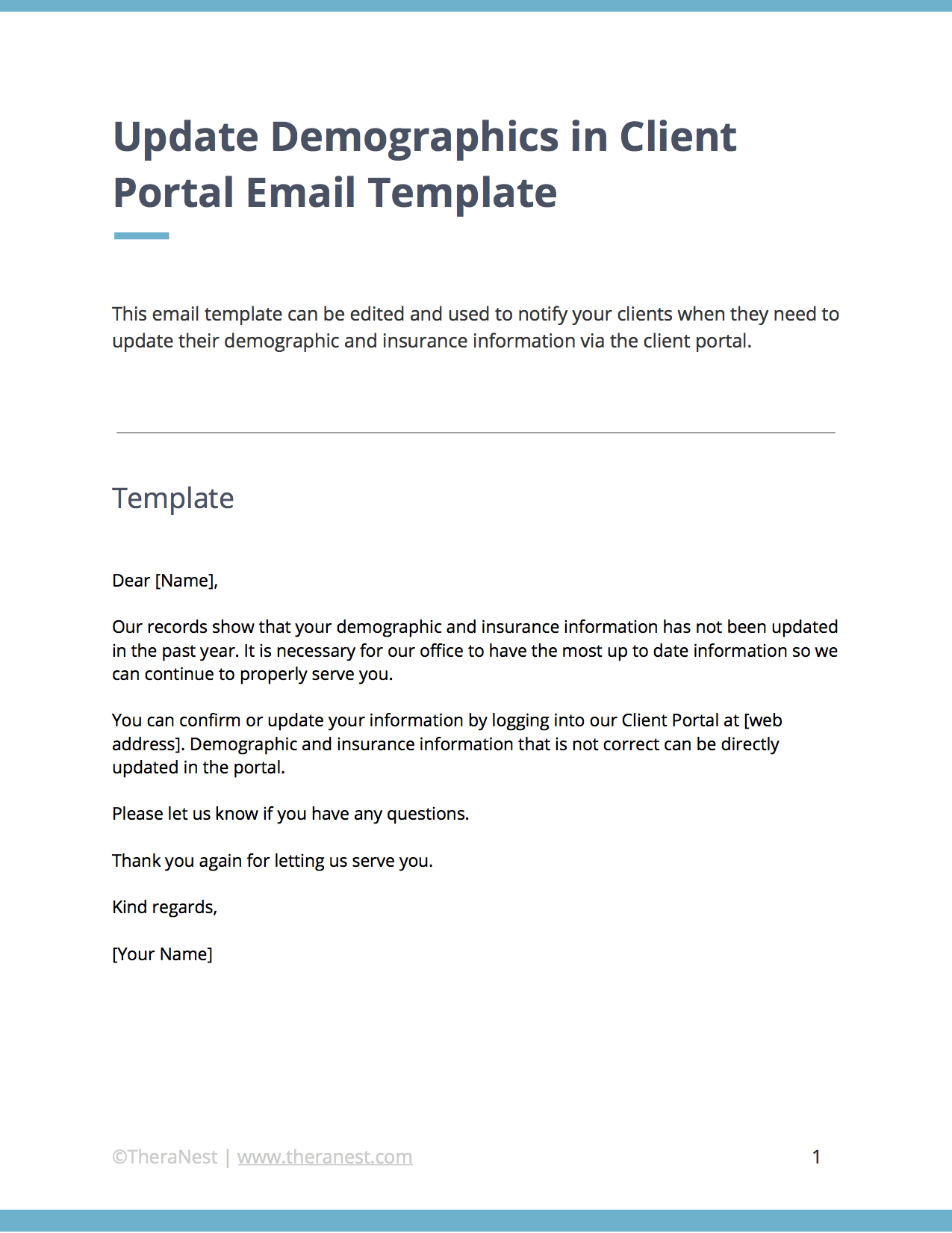 Email Templates For Communicating With Your Therapy Clients