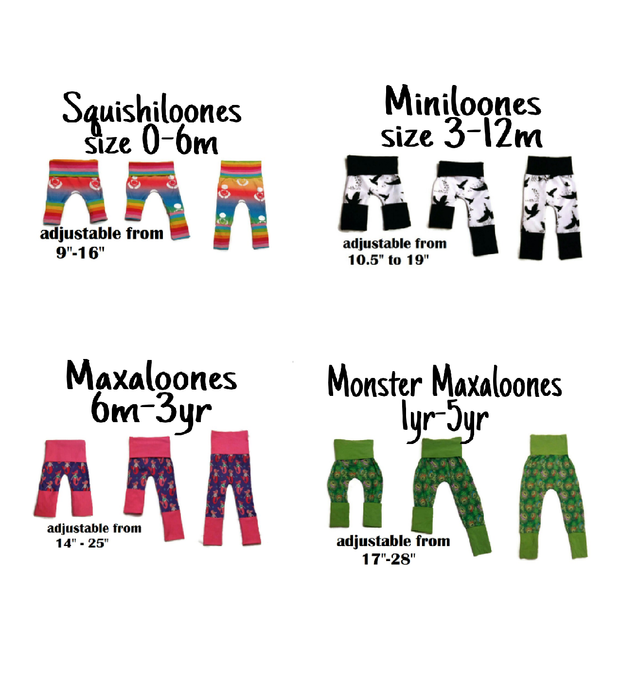 Maxaloones Sewing Pattern (PDF), kid, grow with me | my patterns ...