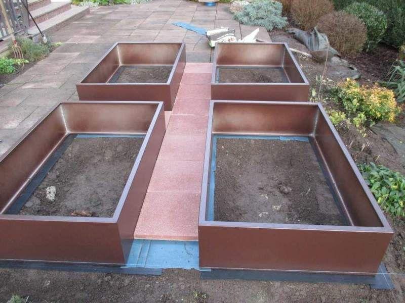 acheter ou fabriquer des bacs en acier ou en aluminium pour faire un potager en carre durable et. Black Bedroom Furniture Sets. Home Design Ideas