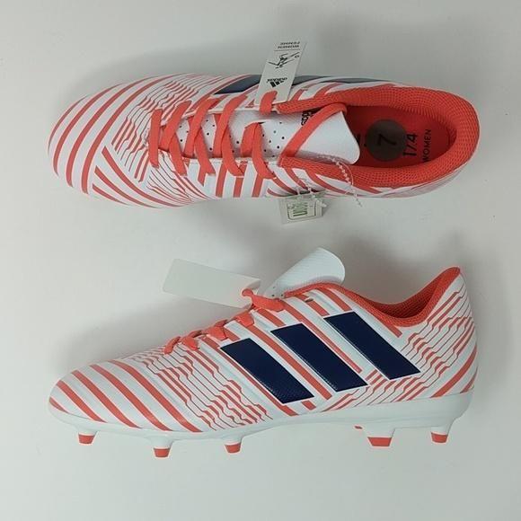 b57a19abd Adidas Performance (BY8886) Nemeziz 17.4 FG White Soccer Cleats Women' –  LoneSole