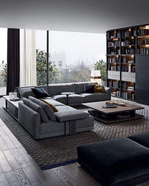 Moderne Wohnzimmer Dekoration Ideen Farbe Mobel Und Leuchten