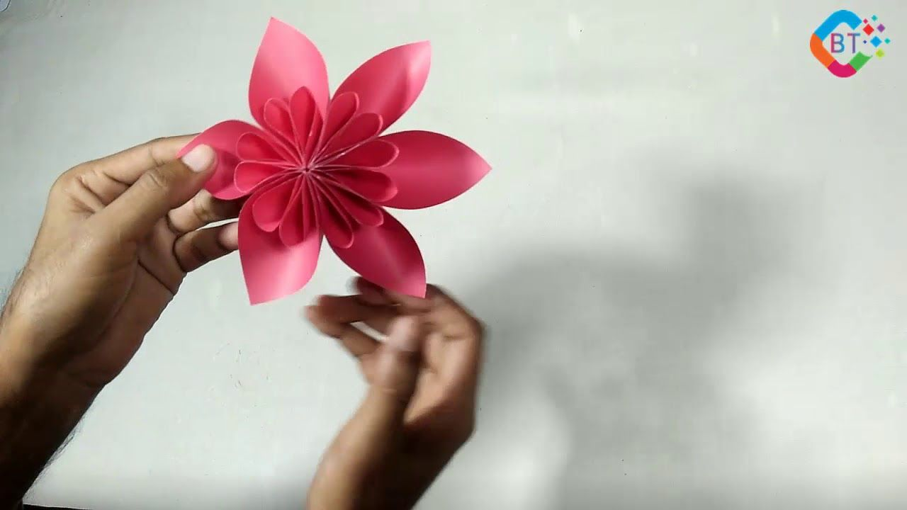 How To Make Beautiful Origami Paper Flower Step By Step Video Diy Origami Paper Paper Flowers Flower Step By Step