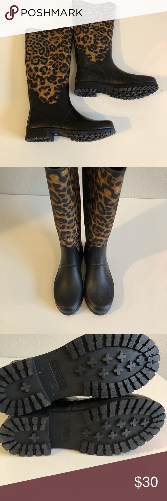 "9493303e84 Lauren By Ralph Lauren Women Bethany Sz 7 Lauren By Ralph Lauren Women s  Bethany Bo Ra Flat Leopard Rain Boots Rubber Sz 7 Condition  New with  defects "" ..."