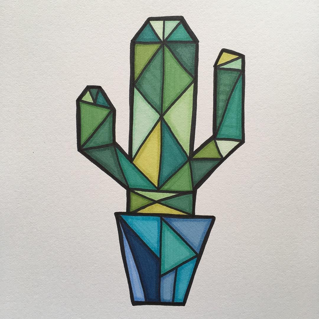"Photo of Perla Schippers-Anröchte on Instagram: ""Cubism Cactus"""