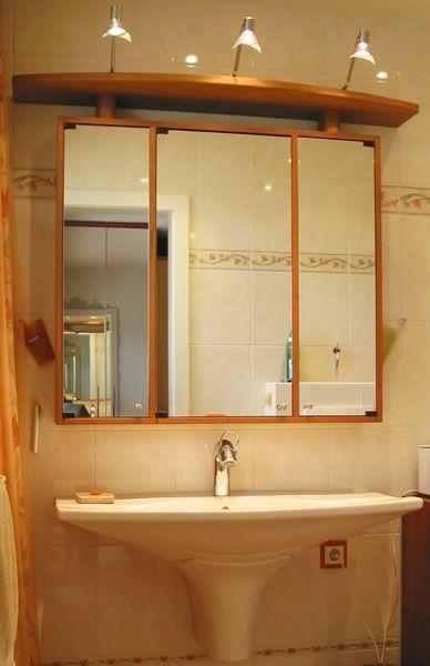Badezimmer Spiegelschrank Holz Braun