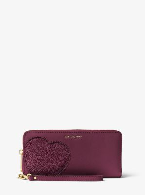 281bf5911380 Hearts Saffiano Leather Wristlet by Michael Kors | Obsessions ...