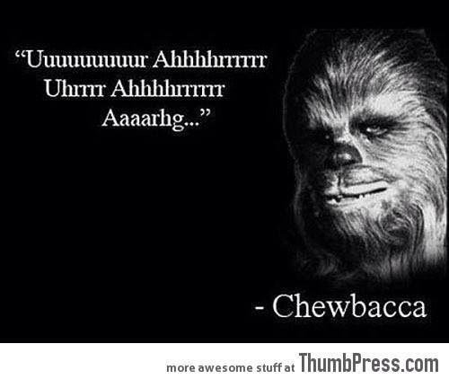Chewbacca words of wisdom