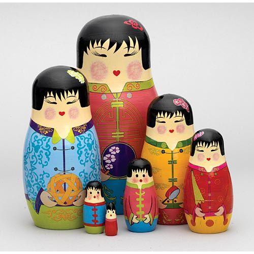 Russian stacking dolls Bob`s Burgers matryoshka 5 pcs set nesting wooden doll