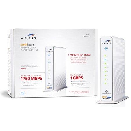 ARRIS SVG2482AC SURFboard 24X8 DOCSIS 3.0 Cable Modem AC1750 Wi-Fi Router