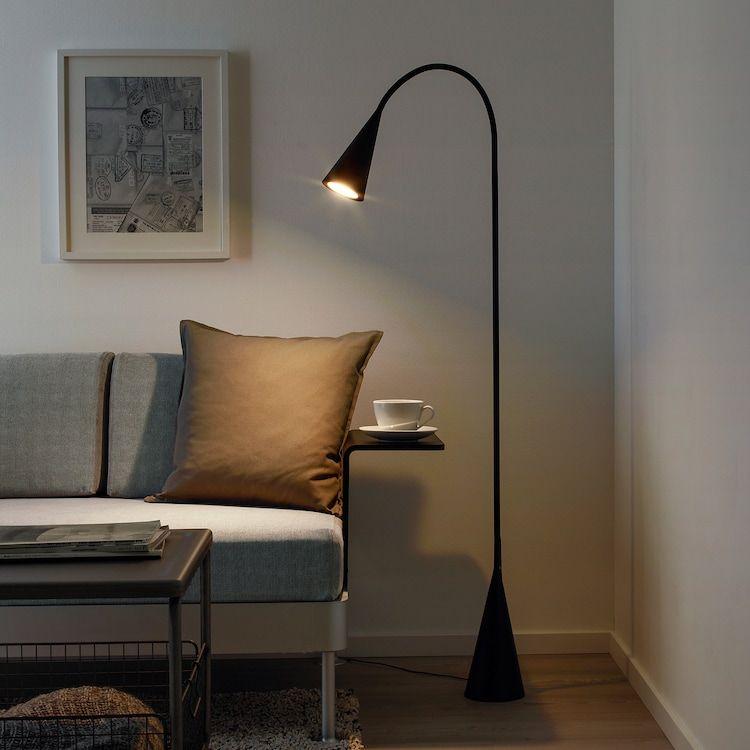 Delaktig Led Floor Lamp Black Ikea In 2020 Black Floor Lamp Led Floor Lamp Ikea Floor Lamp