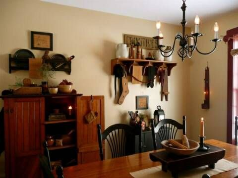 This Is Very Much Like My Current Dining Room Color Minus The Border I Country PrimitivePrimitive DecorCountry