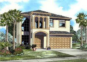 Elevation of Florida   House Plan 55723