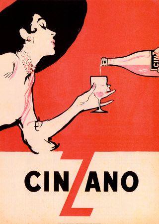 Cinzano Liquor Home Decor Vintage Liquor Advertisement Poster Art Print