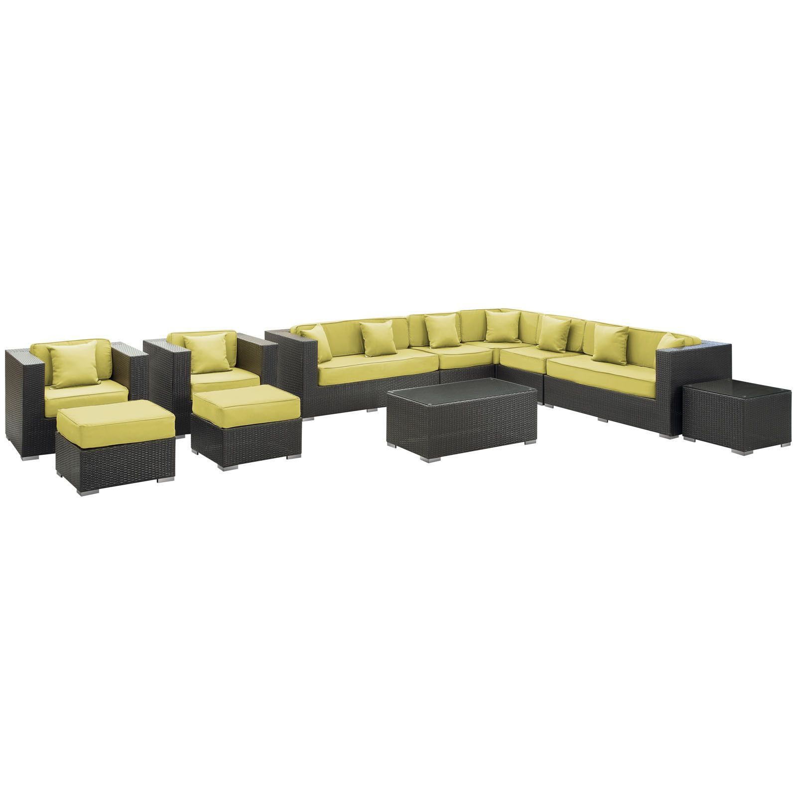 Cohesion 11 Piece Outdoor Patio Sectional Set