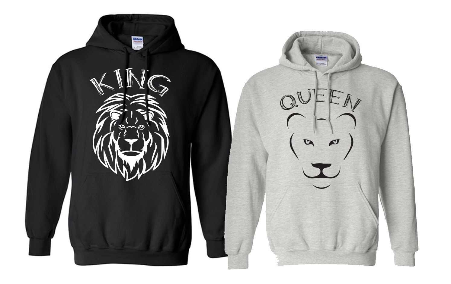 4e9b62ed16 Couples Hoodie, King shirt queen shirt, king and queen, lion king, custom  hoodies, printed hoodie couple funny hoodie husband wifey hoodies by  MOTIFIT on ...