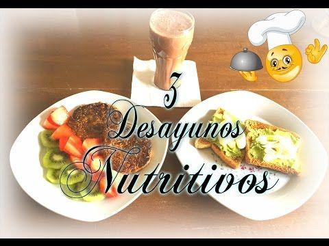 Desayunos Saludables y fáciles de hacer / 3 Recetas. - YouTube