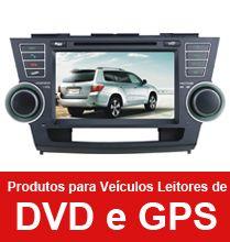 Produtos para Veículos leitors de DVD e GPS