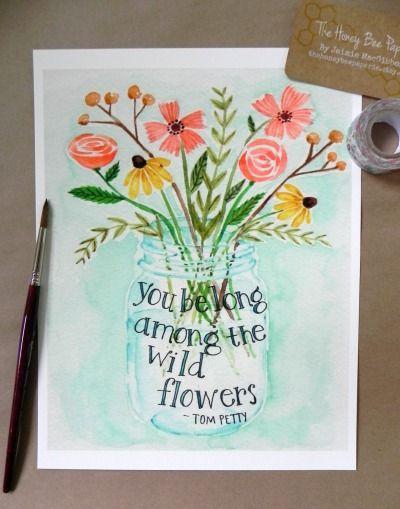 Wildflower Bouquet Tumblr Art Prints Quotes Art Quotes Quote