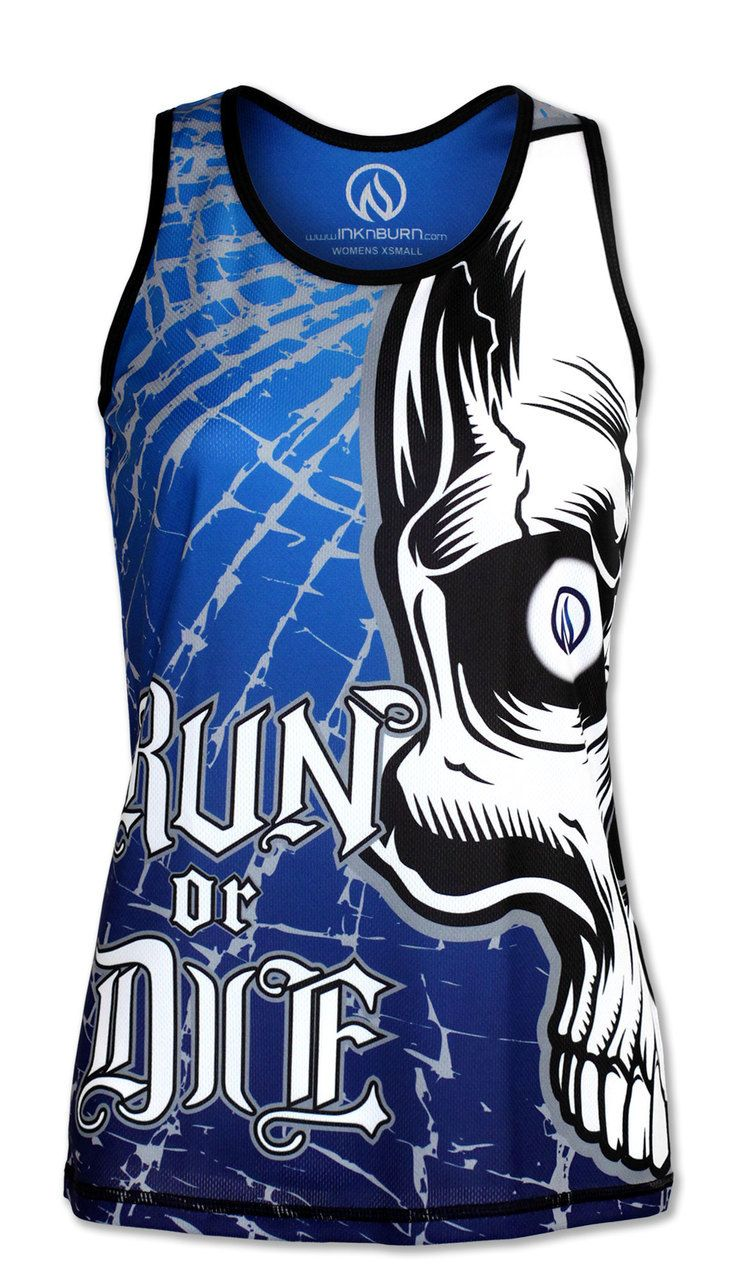 b26d9c6e475b INKnBURN Women s Run or Die Skull Singlet Back