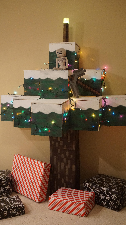 Minecraft Christmas Tree.Real Minecraft Christmas Tree Crafts Minecraft Christmas