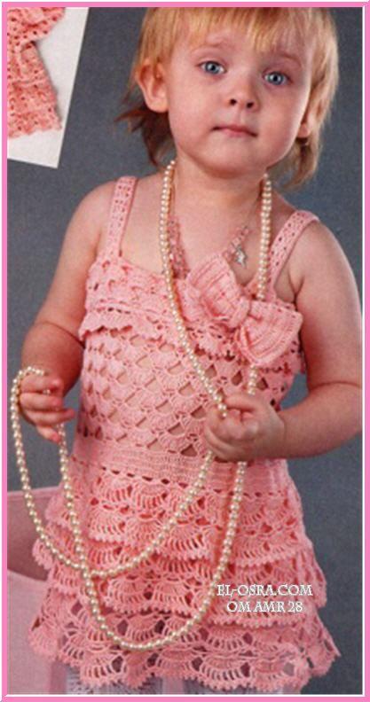 فستان كروشية باللون الروز لأجمل طفلة  http://forums.gntee.com/showthread.php?t=4869