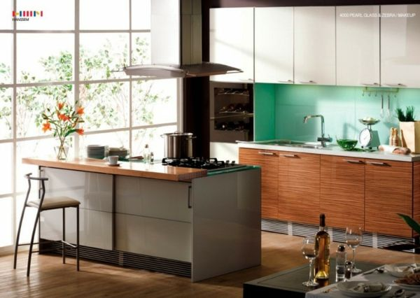 20 moderne Kücheninsel Designs - kücheninsel-küchenblock-insel