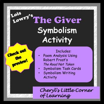 The Giver Symbolism Activity With Symbolism Task Cards