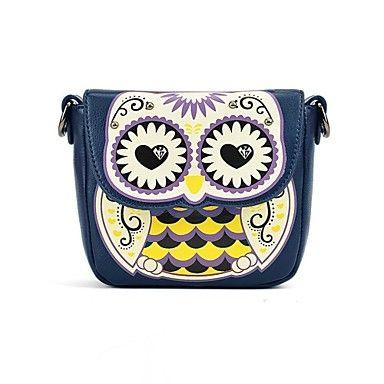 cuero de la PU impresión linda del búho mensajero crossbody los mini bolsos de hombro de las mujeres - EUR € 7.08