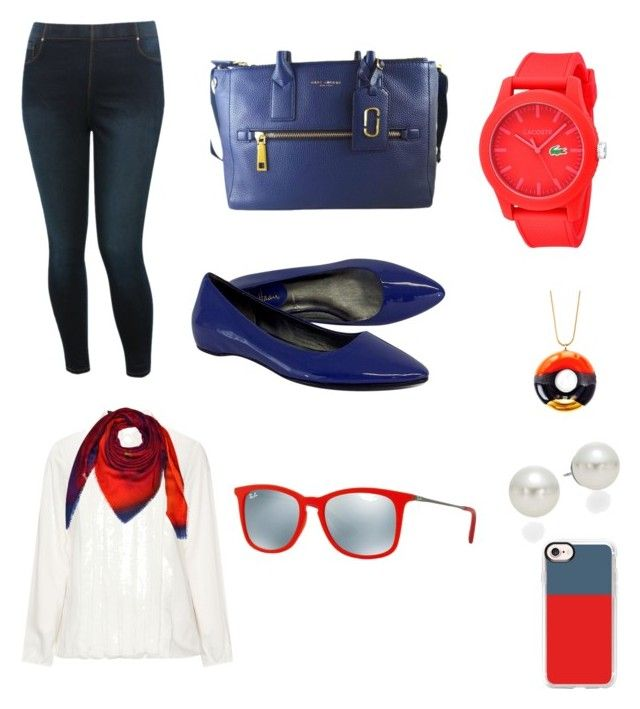 """""""Paseo de primavera"""" by sonia-marin on Polyvore featuring M&Co, Samoon, Marc Jacobs, Cole Haan, Lacoste, TADAM! DESIGN, AK Anne Klein, Casetify, Kopé London and Ray-Ban"""