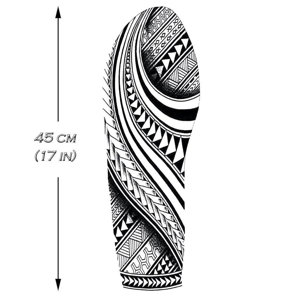 Polynesian Sleeve 2 Tatuagem Maori Tatuagem Polinesia