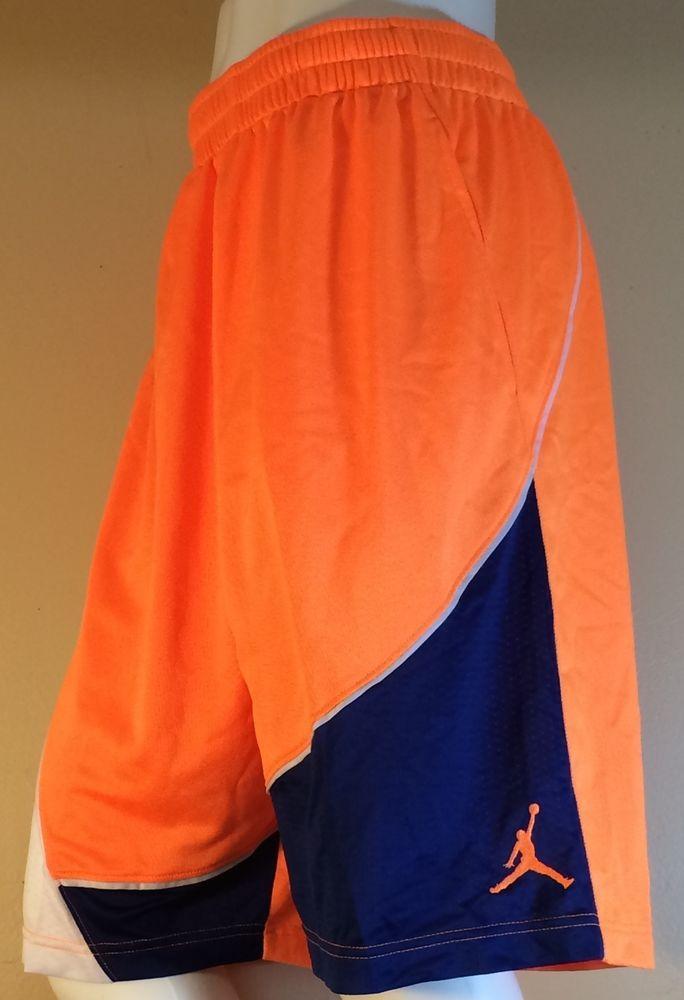 838e24b5771 Men's Jordan Orange Blue White Basketball Shorts (XL) #Jordan #Shorts
