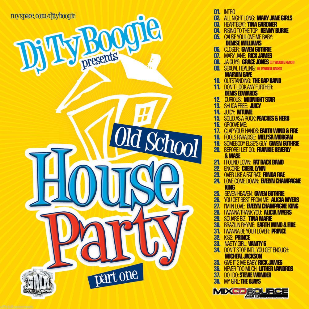 Old school house party pt 1 mix cd classic 80 39 s and 90 39 s for Old house music mix