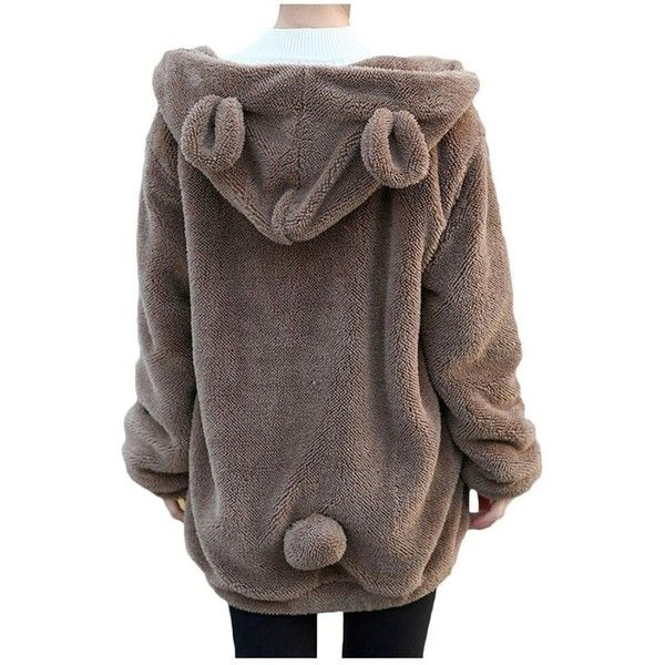 Harajuku Kawaii Mohair Bear With Ear Warm Hoodie for Womens at Amazon...  ( 23) ❤ liked on Polyvore featuring tops 24d5c81ea2