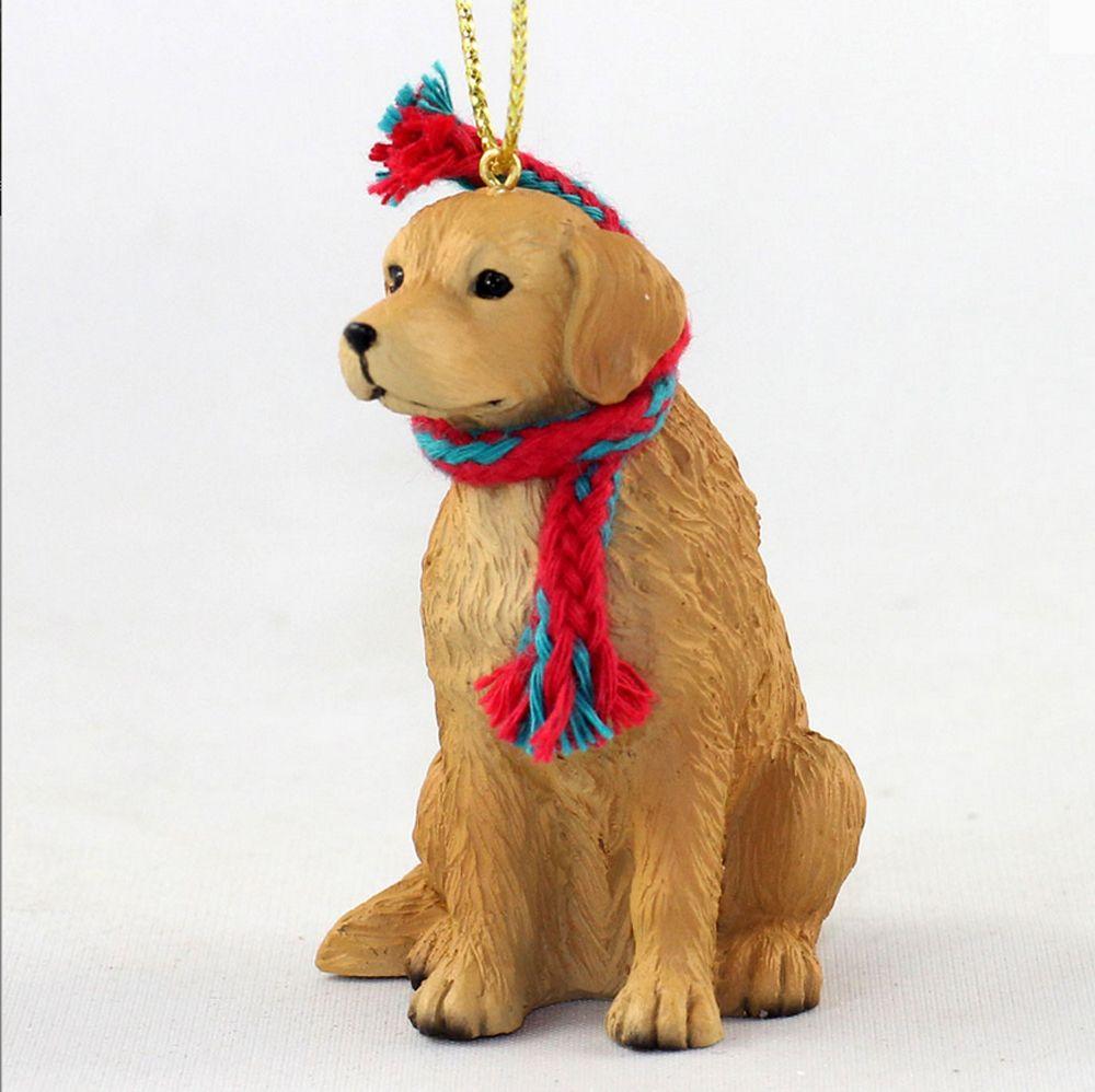 Golden Retriever Christmas Scarf Ornament Dog Christmas