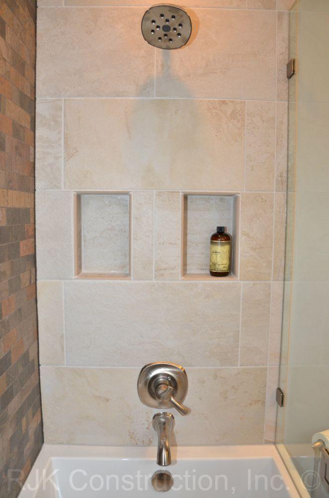 Image Result For Shower Niche Under Shower Head Bathroom