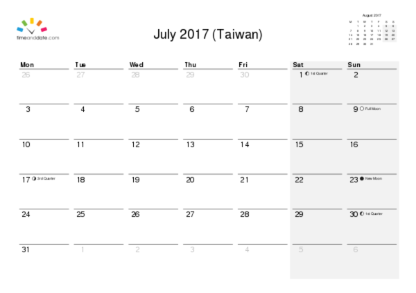 Printable Calendar  For Taiwan Pdf  Calender