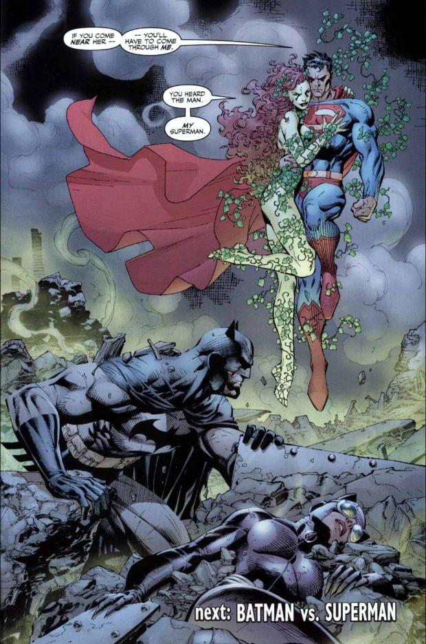 Poison Ivy Mind Controls Superman Batman 611 Jim Lee Art Batman And Catwoman Batman Hush