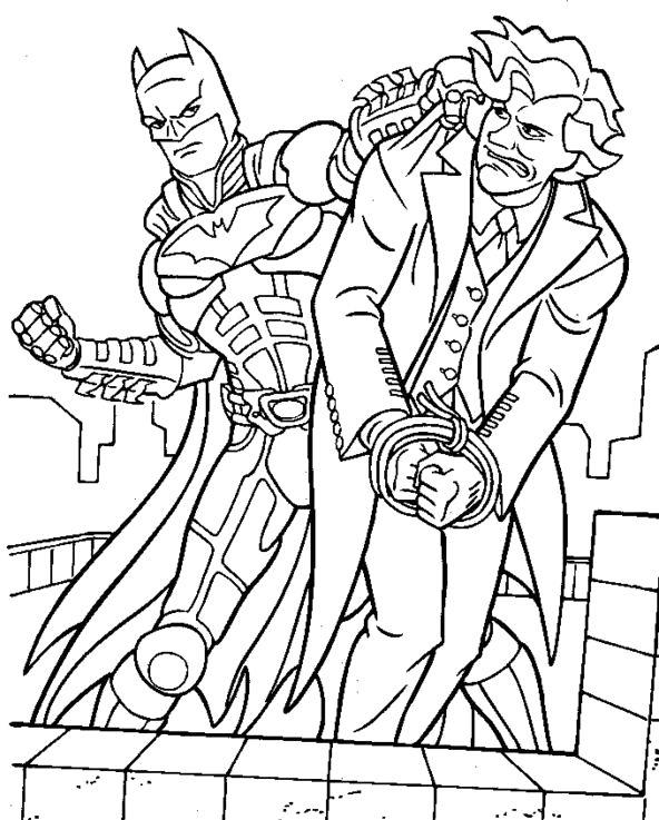 Batman Manages To Capture Villains Coloring Pages