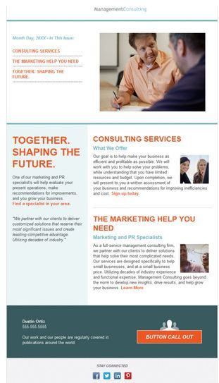 Template Name: Consulting Newsletter 2 Column] | Email