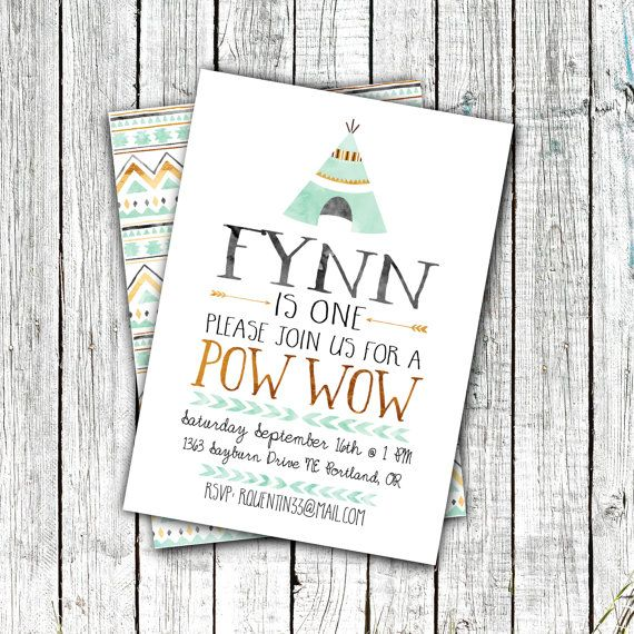 Birthday pow wow invitation birthday party invitations pow wow birthday pow wow invitation birthday party by zoomboonecreations stopboris Image collections