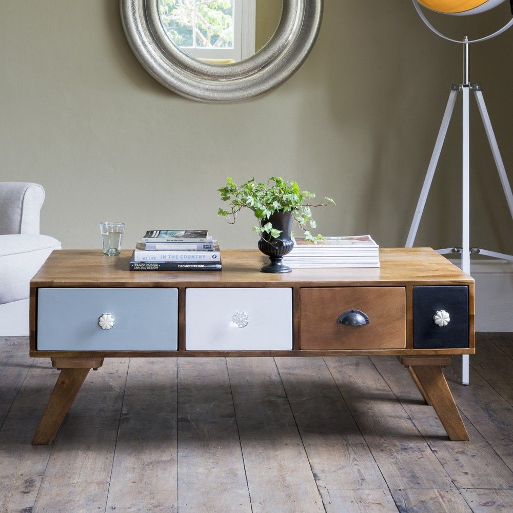 Milligan Retro Multi Drawer Coffee Table