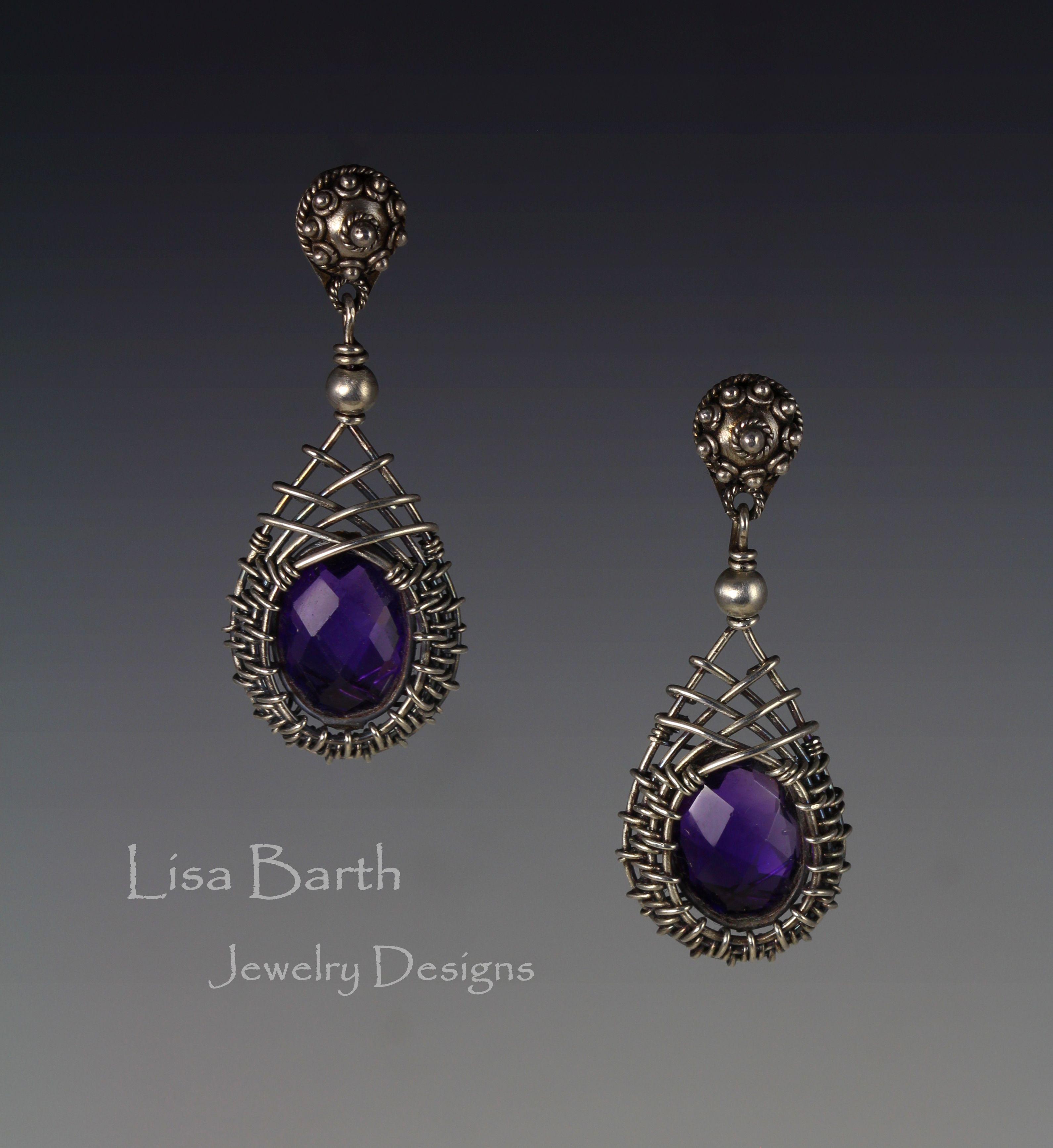These are simple and classic woven bezel ear rings, for the book I ...