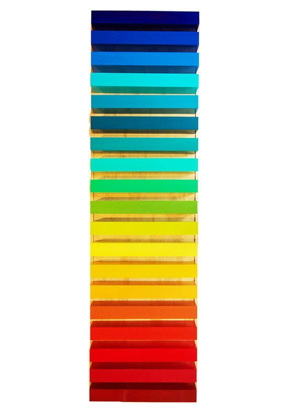 Stairway to Color | 3d Wood Wall Sculpture | Colorful Painted Wall ...