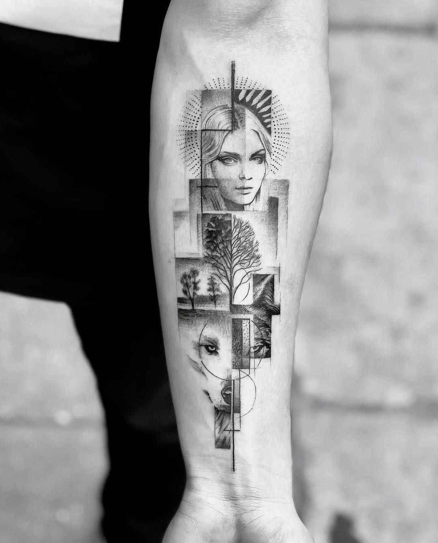 Abstract Vision John Monteiro Geometric Sleeve Tattoo Geometric Tattoo Abstract Tattoo