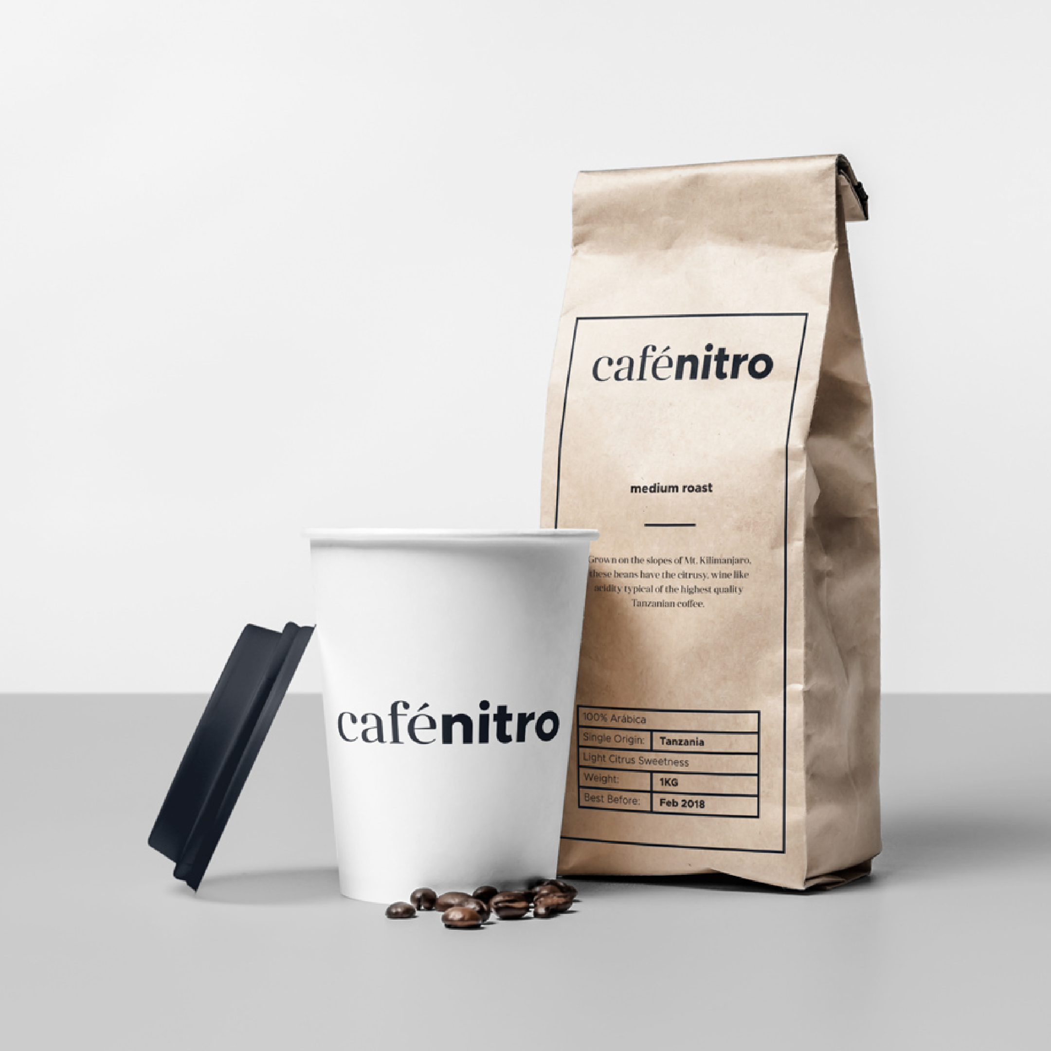 Coffee Package Design For Cafenitro A Small Batch Uk Based Coffee Roaster Designed By Let S Panda Vancouver Lets Brand Packaging Coffee Packaging Branding