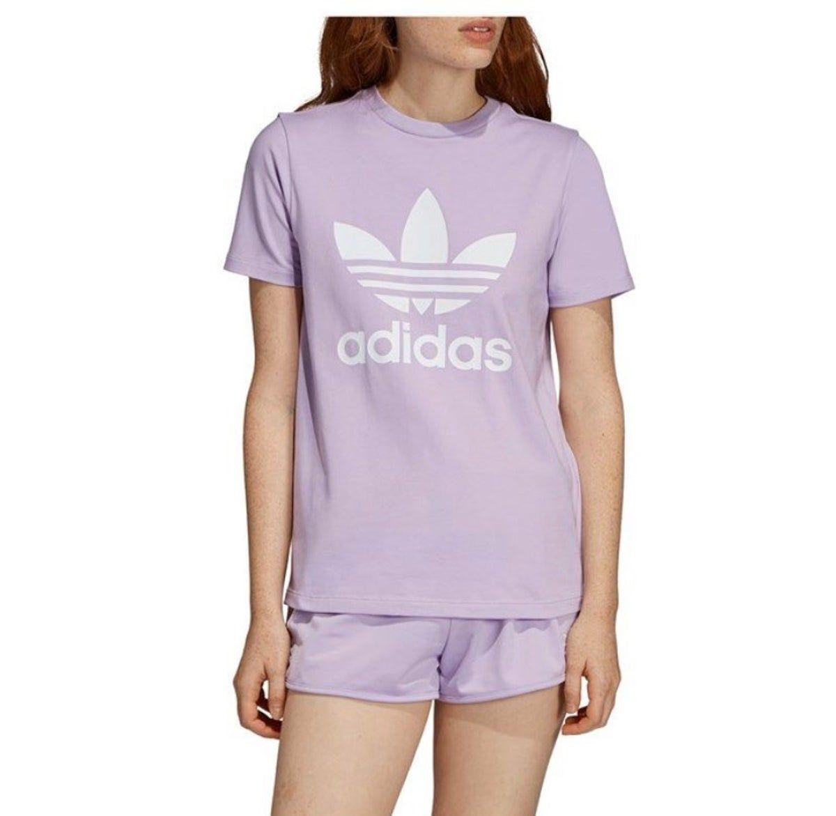 Adidas Trefoil Tee Shirt Adidas Trefoil Adidas Women Women [ 1171 x 1200 Pixel ]