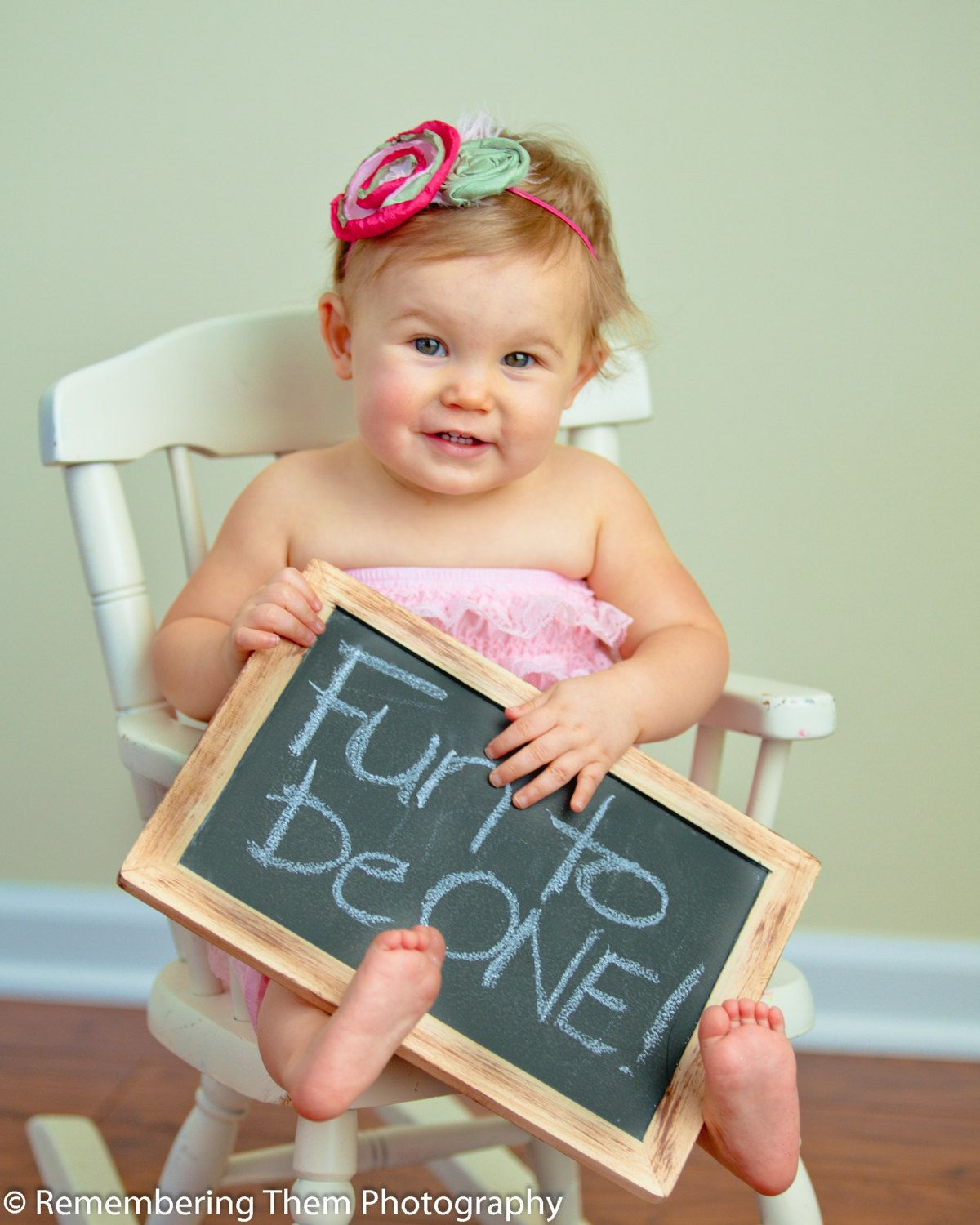 1 Large Rustic First Birthday Photo Prop Chalkboard