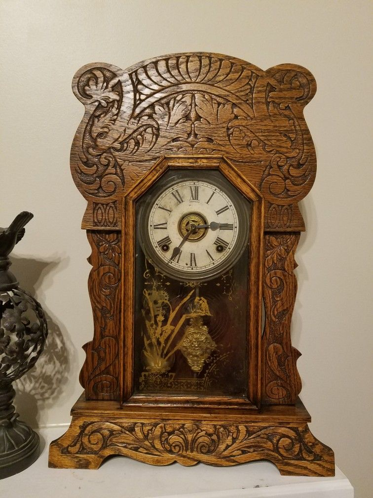 Sessions Grand 2 C 1915 Mantel Clock Wall Clock Antique Wall Clock